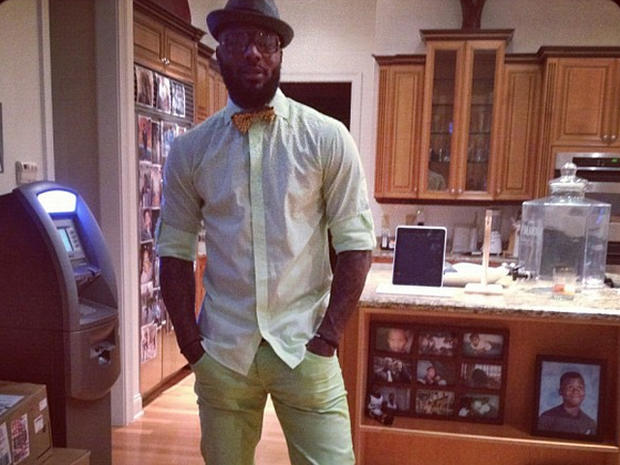 Deshawn Stevenson in his kitchen.