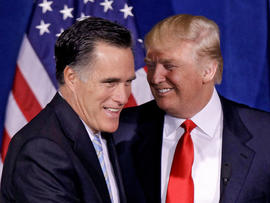 Romney clinches nomination and raises big money with Trump