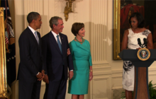 Michelle promises to save Bush's portrait, like Dolley Madison