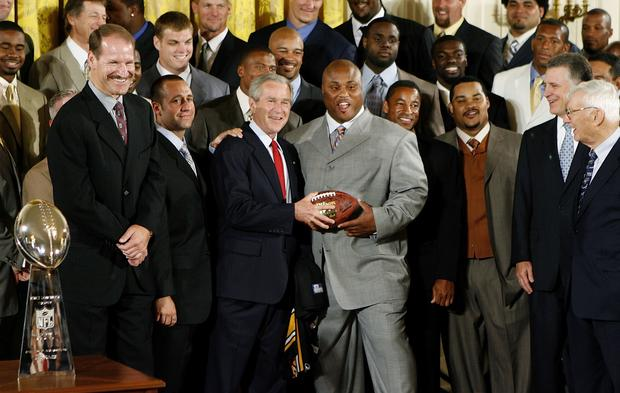 Super Bowl champs at the White House