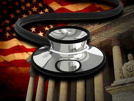 US Supreme Court, US Flag and Stethoscope