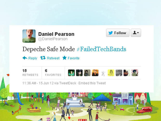 Hilarious #FailedTechBand names on Twitter