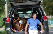 Dan Zevin loves driving a minivan