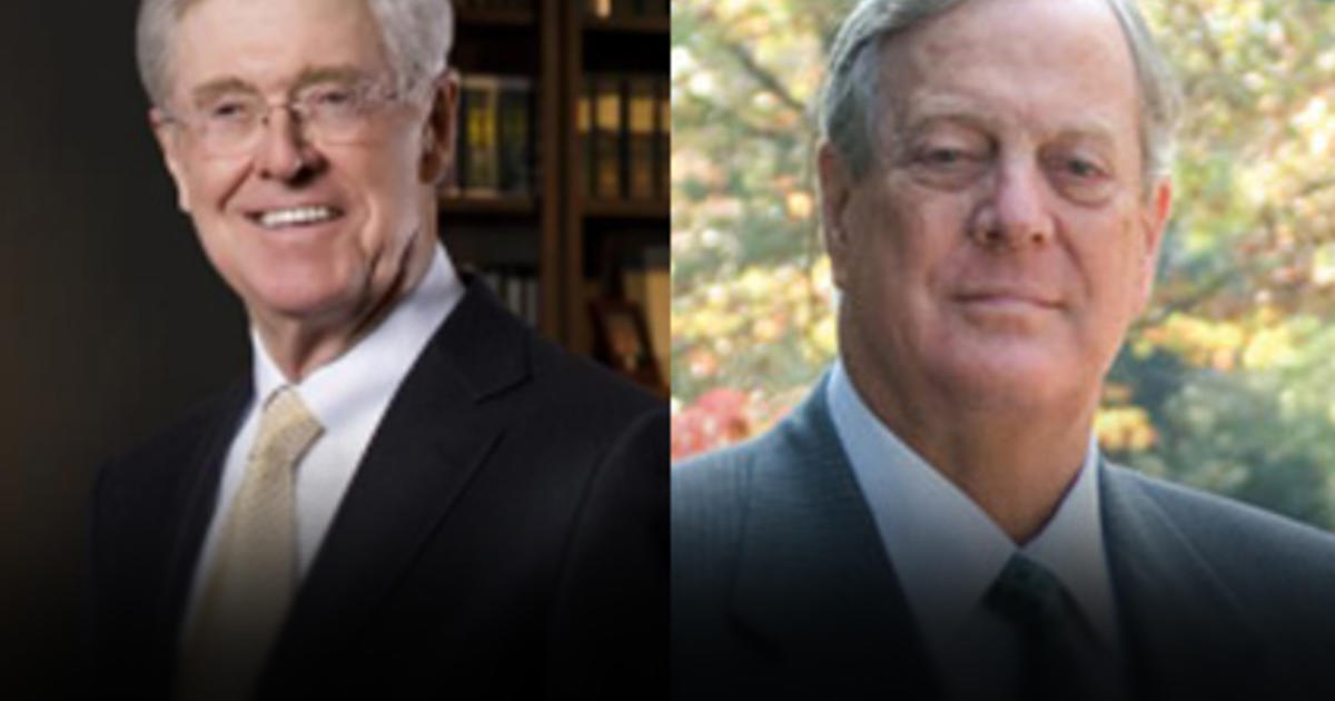 Weekend of secrecy for big gop donors cbs news for Charles und david koch