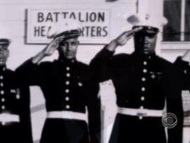 Montford Point Marines salute.