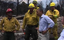 President Obama tours Colo. wildfire damage