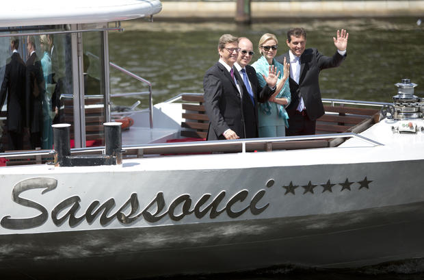 Monaco's prince and princess in Germany