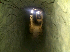 A tunnel authorities suspect was designed to smuggle drugs into the United States that was found in Tijuana, Mexico, is seen in this image provided by the U.S. Immigration and Customs Enforcement agency July 12, 2012.