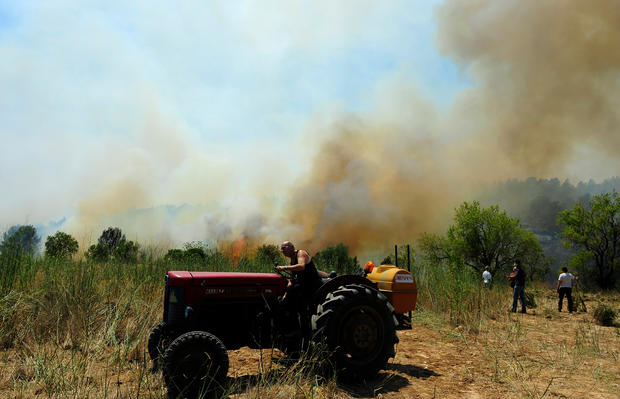 Raging northeast Spain wildfires