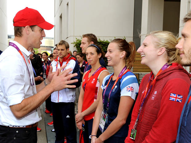 Royals visit the Olympic Village