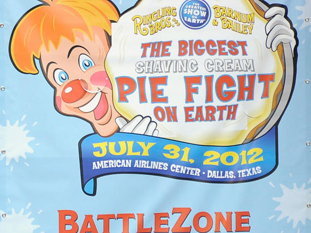 The biggest shaving cream pie fight on Earth