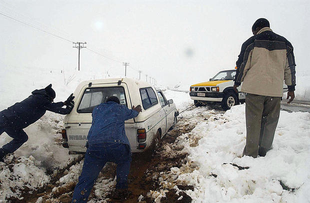 Rare snowfall in South Africa