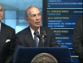New York Mayor Michael Bloomberg announces the Domain Awareness System, which was developed with Microsoft.