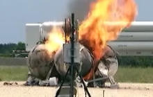 NASA rocket fail: Test ends in explosion