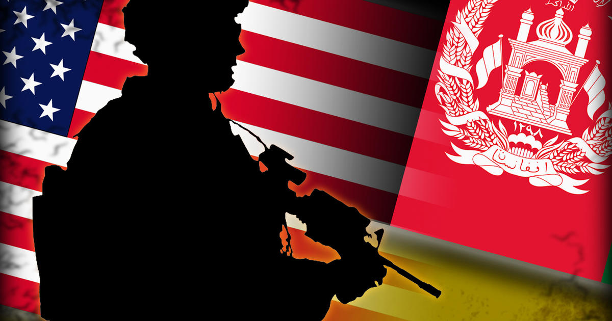 Afghanistan And American Flag Together