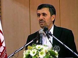 President Ahmadinejad on Iranian television.