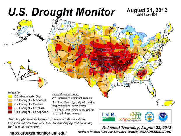 National Drought Mitigation Center, drought, map