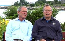 Bushes reflect on presidencies, endorse Romney