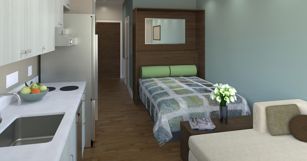 micro apartments could get big san francisco boost cbs news. Black Bedroom Furniture Sets. Home Design Ideas