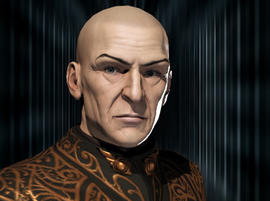 """This undated publicity image provided by CCP Games shows Sean Smith's computer-generated avatar portrait as """"Vile Rat,"""" from the game """"EVE Online."""""""