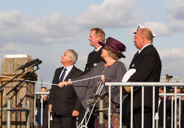 Queen Beatrix christens pilot boat