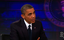 Obama to Jon Stewart: We don't have to trade values for security