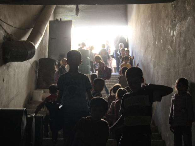"""Bunker schools"" for Syrian kids"