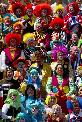 Clown convention in Mexico City