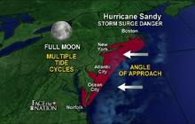 """Sandy a """"massive storm"""" threatening storm surges, power outages"""
