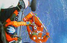 Watch: HMS Bounty crew member rescued by Coast Guard