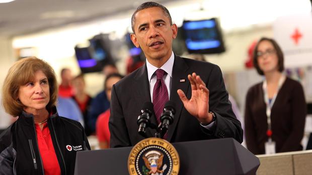 Obama speaks at Red Cross on Sandy relief effort