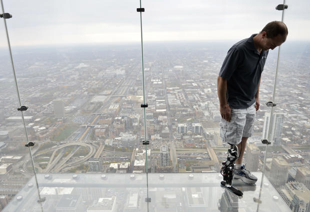 """Bionic"" man climbs 103 flights"