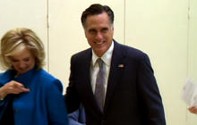 Mitt Romney casts his ballot