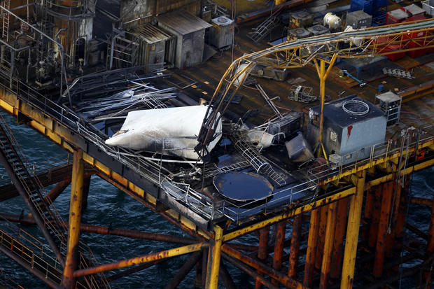 Oil platform explosion in the Gulf of Mexico