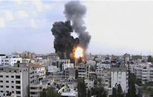 Israelis, Palestinians trade rocket fire
