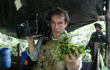 Filming a Colombian drug lab raid