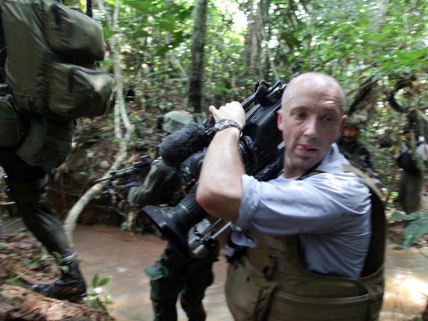 Filming a Colombian drug lab raid