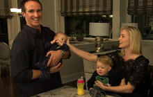"""""""Person to Person"""": Behind the scenes with Drew and Brittany Brees"""