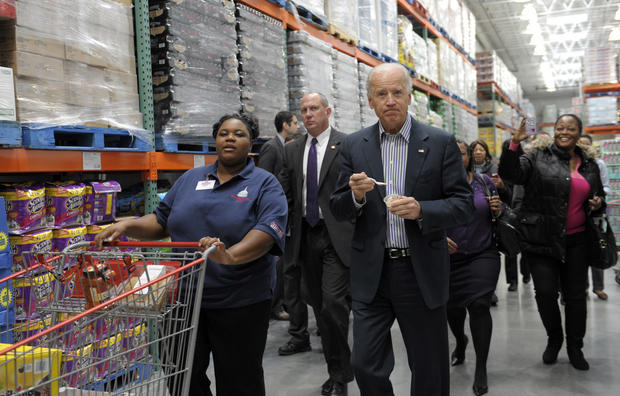 Joe Biden shops at Costco