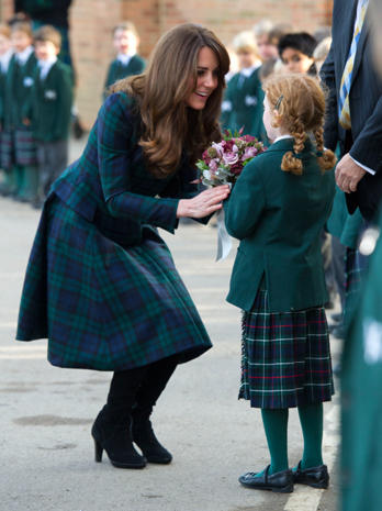 Duchess Kate goes back to school