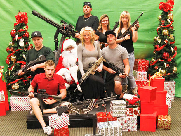 Santa and machine guns