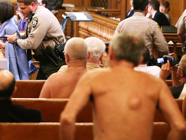 Protesters strip over S.F. nudity ban