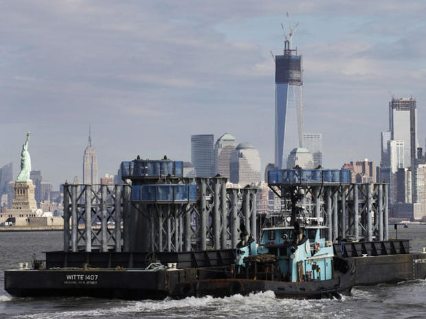 One World Trade Center Tower spire rising above NYC