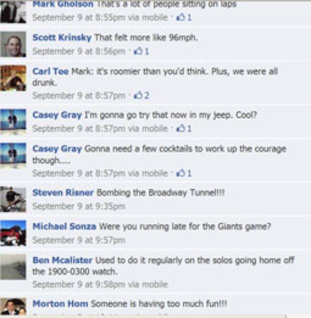 针对视频SFPD中士Carl T在Facebook上发布的评论。