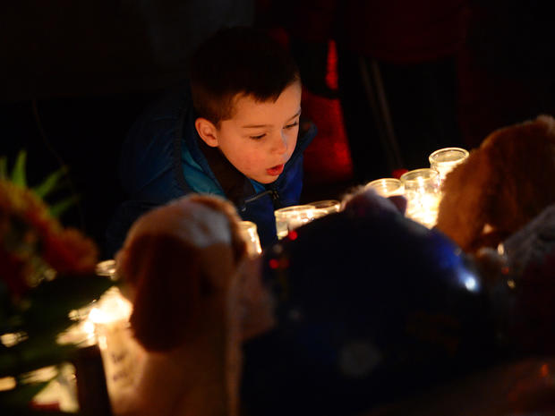 Newtown, Conn., memorial vigil