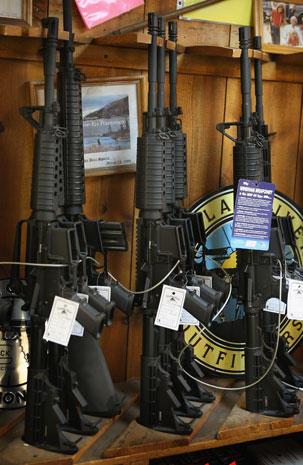 U.S. gun shops report spike in sales
