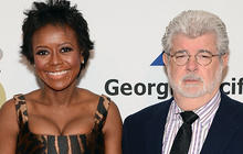"""George Lucas: """"Star Wars"""" creator engaged to Mellody Hobson"""