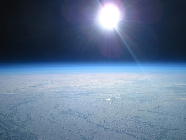 Stunning pics taken by weather balloon