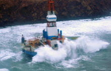 Grounded oil rig refloated in Alaska
