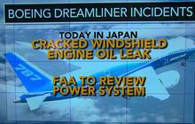 Boeing's Dreamliner suffers oil leak, more cracks